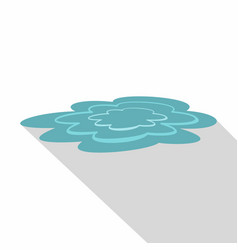 water puddle icon flat style vector image