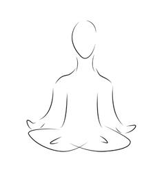 Logo yoga symbol vector
