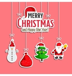 Christmas Holiday Decoration Concept vector image
