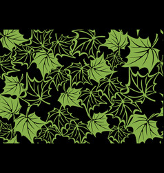 Maple leaf green seamless pattern background vector