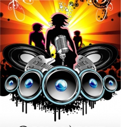 music and disco background vector image