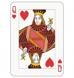 Queen of hearts vector