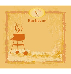 grunge Barbecue Party Invitation vector image