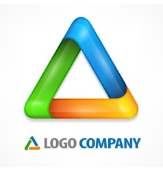 Color triangle on white vector