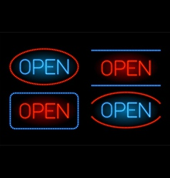 neon open set vector image