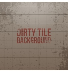 Realistic dirty tile wall background vector