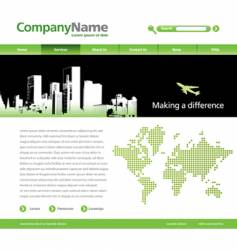 website template with a jet vector image
