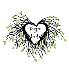 Heart tree of life vector