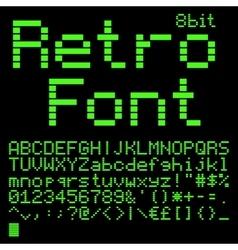 8 bit font vector