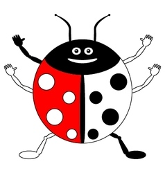 Color by example ladybird vector