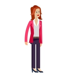 Detailed character office worker vector
