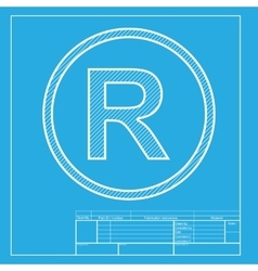 Registered trademark sign white section of icon vector