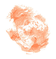 abstract cream watercolor on white background vector image vector image