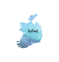 Abstract ireland map vector