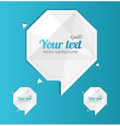 Abstract paper design text template 1 2 3 concept vector