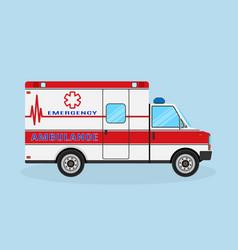 ambulance car side view emergency medical service vector image