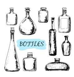 Bottles Set of vector image
