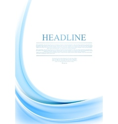 Bright blue wavy background vector