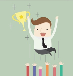 Congratulations on winning an award vector image vector image