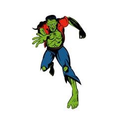 Dr Frakensteins monster running towards you vector image vector image