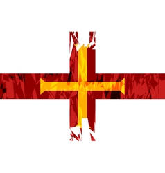 Flag of Guernsey vector image