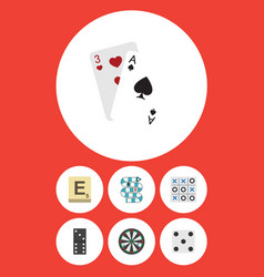 Flat icon entertainment set of backgammon vector