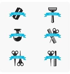 Hair cut accessories vector image