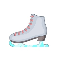 Ice skate boot icon cartoon style vector image