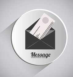 Message design vector image vector image