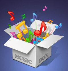 Music box - white vector