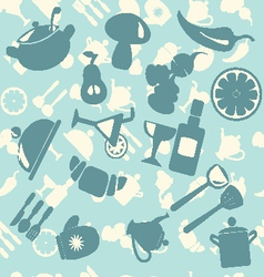 pattern with food vector image vector image
