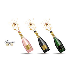 realistic champagne explosion vector image