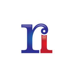 Ri letter logo vector
