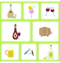 Seamless background with alcohol icons vector image vector image