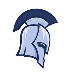 spartan helmet greek warrior logo element vector image vector image
