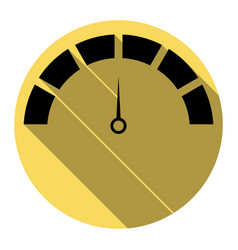 speedometer sign flat black vector image