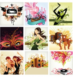 urban pop music vector image vector image