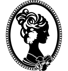 Vignette female profile vector image