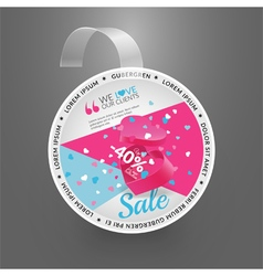 Wobbler design template for sale event vector
