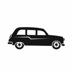 Retro car icon simple style vector