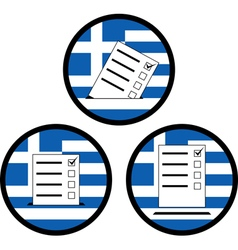 Signs of voting in greece vector