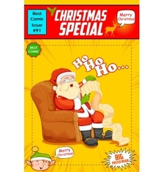 Santa claus reading wish list for christmas vector