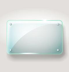 Glass advertising board vector