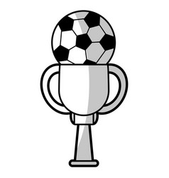 soccer winner cup - shadow vector image