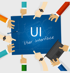 Ui user interface web design concept vector