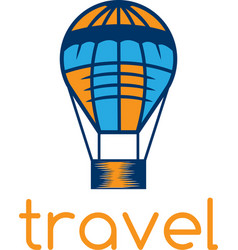 Air balloon travel concept design template vector