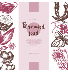 Flavoured products - hand drawn banner vector