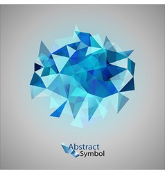 Triangles on gray blue vector