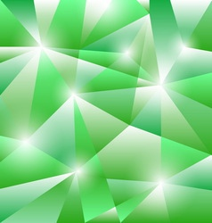 Geometric pattern with green triangles background vector