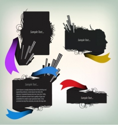 text frames vector image